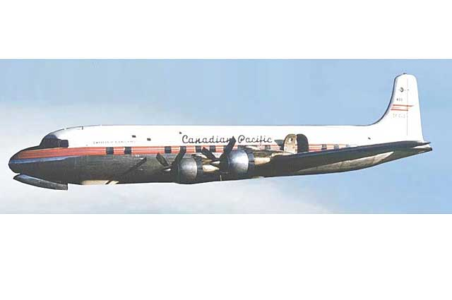 Canadian Pacific Airlines DC-6 CF-CZF (1:400)