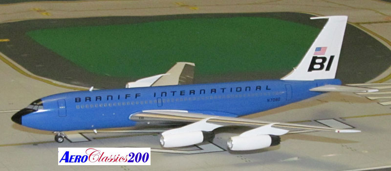 "Braniff International B720 N7080 ""Blue"" (1:200)"