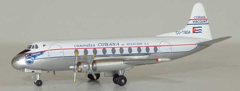 Cubana Viscount 700 CU-T604 (1:400) - Preorder item, Order now for future delivery