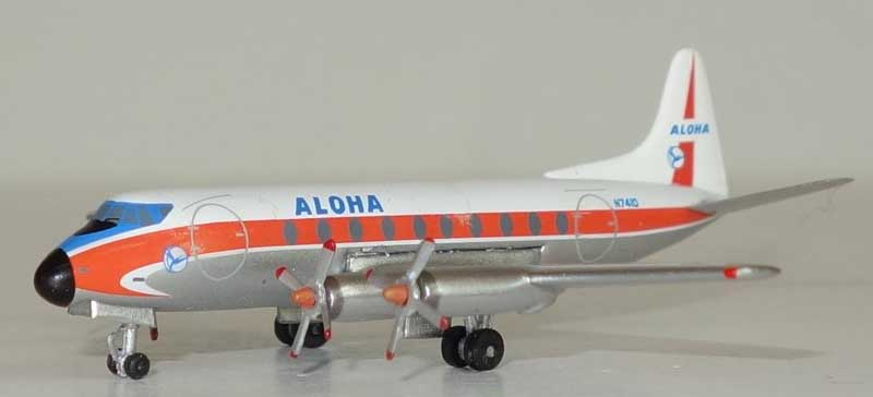 Aloha Airlines Viscount 700 N7410 (1:400) - Preorder item, Order now for future delivery