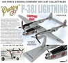 "P-38J Lightning, ""Pudgy IV"" 431st FS, 475th FG, Maj. Thomas McGuire (1:48) New Mould!"