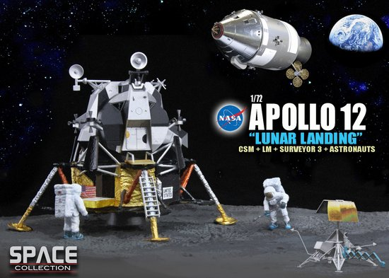 "Apollo 12 ""Lunar Landing"" , CSM + Lunar Module ""Interpid"" + Surveyor 3 + Astronauts (1:72)"