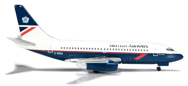 "British Airways 737-200 (1:500) ""River Tamar"" C-BGDA"