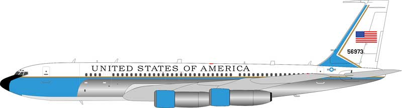 USAF Boeing C-137C (707-300) 85-6973 Polished (1:200)