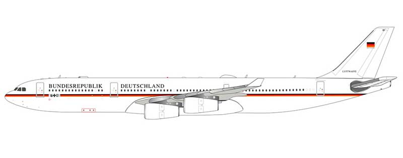Bundesrepulik Deutschland (German Air Force) A340-300 1601 (1:200)