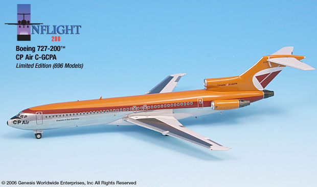 CP Air 727-200 (1:200) Empress of San Francisco - Polished Finish