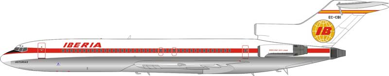 Iberia Boeing 727-200 EC-CBI Polished (1:200) - Preorder item, order now for future delivery
