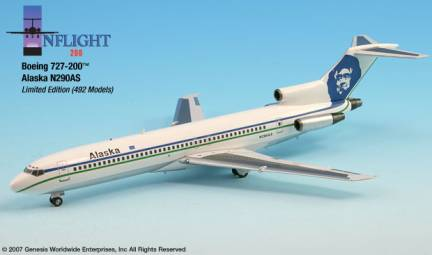 Alaska 727-200 (1:200) Old Colors - N290AS