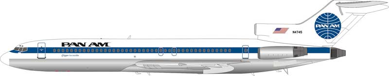 "Pan Am Boeing 727-200 ""Clipper Invincible"" N4745 (1:200) - Preorder item, Order now for future delivery"