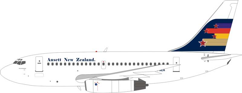 Ansett New Zealand Boeing 737-100 ZK-NEA (1:200)