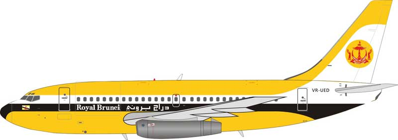 Royal Brunei Airlines Boeing 737-200 VR-UED (1:200) - Preorder item, order now for future delivery