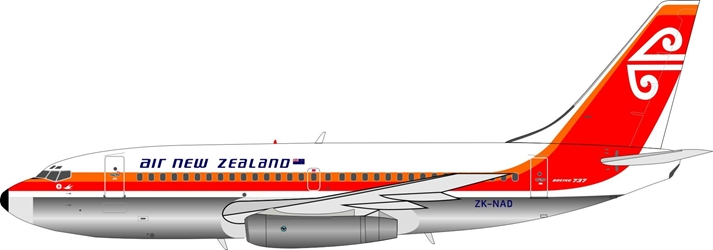 "Air New Zealand Boeing 737-200 ZK-NAD ""1970s Colors"" Polished (1:200) Limited 60 models  - Preorder item, Order now for future delivery"