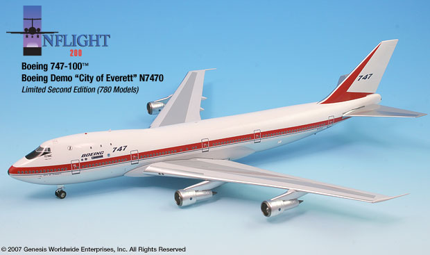 Boeing 747-200 - City of Everett (1:200)
