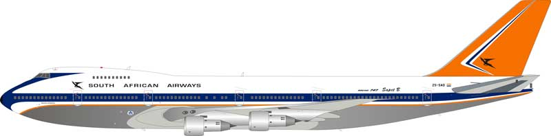 South African Airways Boeing 747-200 ZS-SAO Polished (1:200) - Preorder item, order now for future delivery