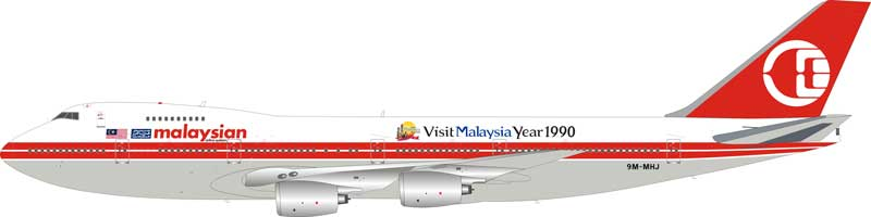 "Malaysia Airlines Boeing 747-200 9M-MHJ ""Visit Malaysia 1990"" (1:200) Limited 60 pieces - Preorder item, order now for future delivery"