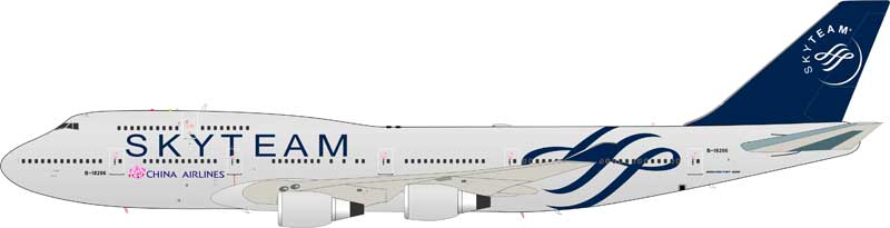 "China Airlines Boeing 747-409 B-18206 ""SkyTeam"" (1:200)"