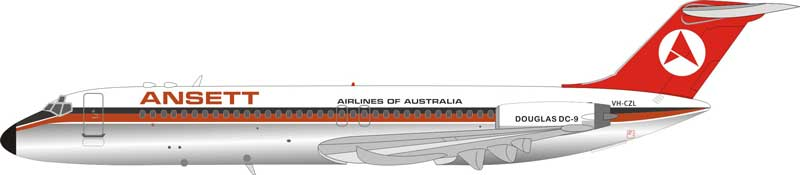 Ansett Airlines of Australia DC-9-31 VH-CZL Polished (1:200)  - Preorder item, order now for future delivery
