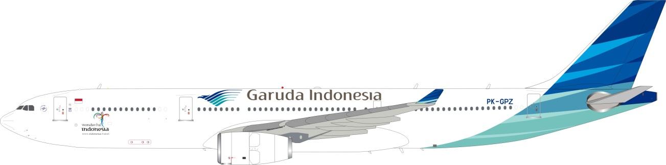 Garuda Indonesia A330-343 PK-GPZ (1:200)  - Preorder item, order now for future delivery