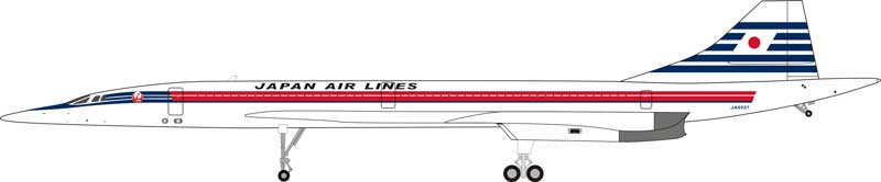 Japan Air Lines (JAL) Concorde JA0557 (1:200) - Preorder item, order now for future delivery