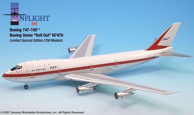 Boeing 747-100, Roll out scheme (1:200)