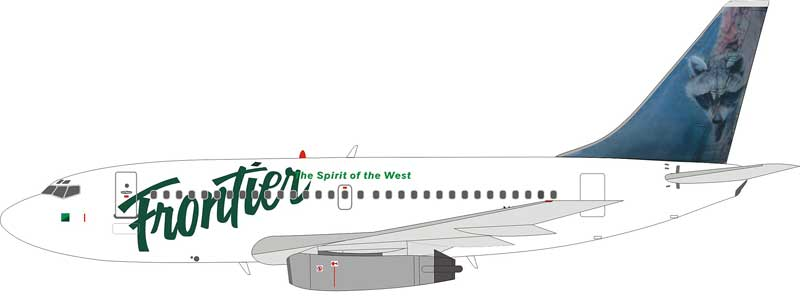 "Frontier Airlines 737-200 N205AU ""Raccoon & Red Fox"" (1:200)-CLOSE OUT"