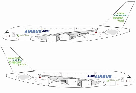 "Airbus A380 ""Recyclable by Design"" w/New Tail Slogan (1:400)"