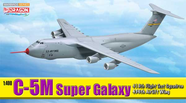 C-5M Super Galaxy Diecast Model USAF 436th AW 418th FTS Edwards AFB CA 2008 (1:400)