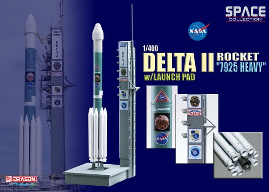 "Delta II Rocket ""7925 Heavy"" w/Launch Pad (1:400)"