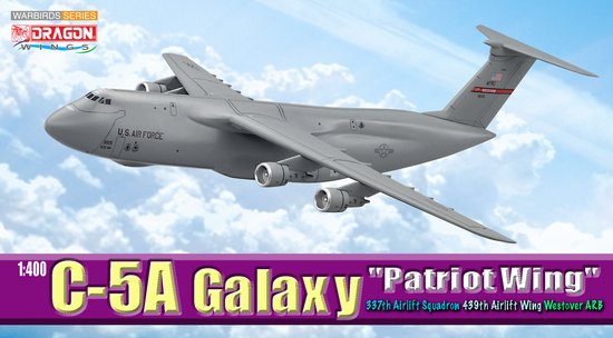 "C-5A Galaxy, ""Patriot Wing"" 439th AW, 337th AS, Westover ARB, MA (1:400)"