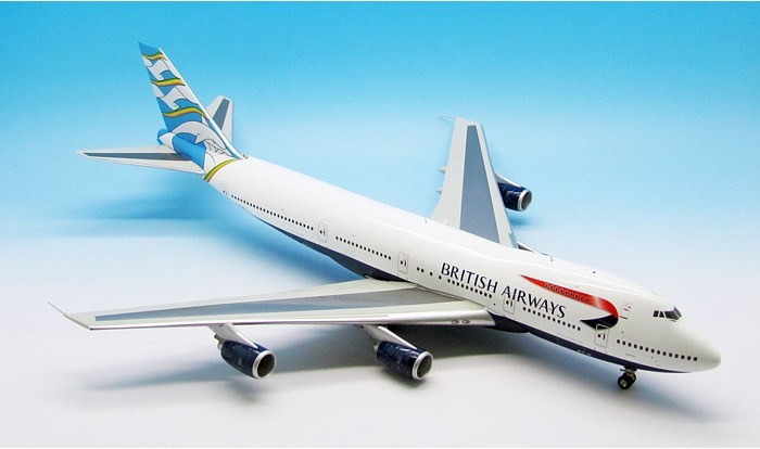 British Airways 747-200 G-BDXD Blue Poole Tail (1:200