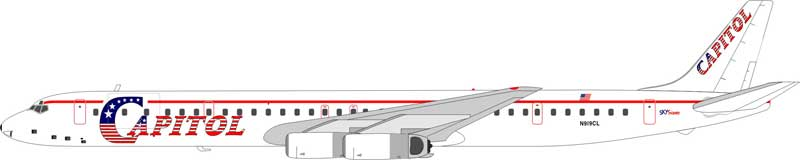 Capitol Air DC-8-63 N919CL (1:200)
