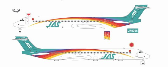 "JAS MD-90 ""Rainbow Cruising Scheme #5"" ~ JA8066 (1:200)"