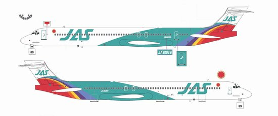 "JAS MD-90 ""Rainbow Cruising Scheme #6"" ~ JA8069 (1:200)"