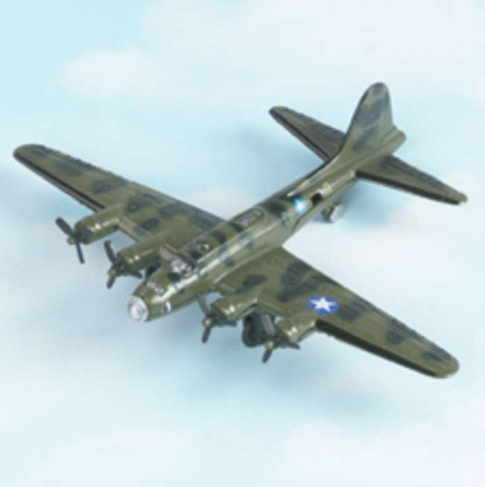 "B-17 Flying Fortress - Green (Approx. 5"")"