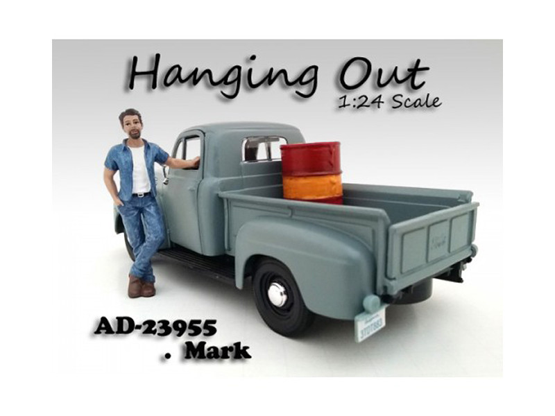 Hanging Out Mark Figure For 1:24 Scale Models by American Diorama