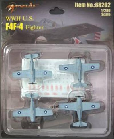 F4F-4 Wildcat, Set of 4 (1:200)