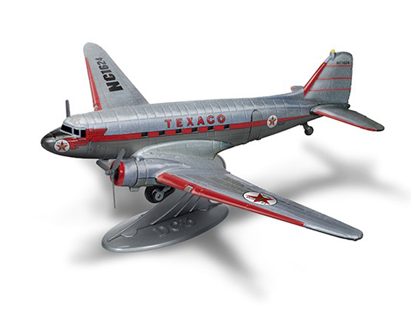 1953 Douglas DC-3, Wings of Texaco Airplane Series #25 2017 Special Edition in Brushed Metal with Texaco Graphics (1:72) - Preorder item, order now for future delivery