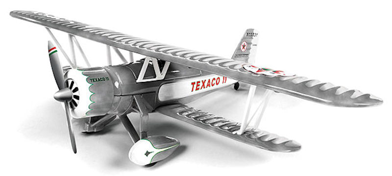 Wings of Texaco Airplane Series #23 (2015) - 1931 Stearman (1:38) - Special Brushed Metal Edition