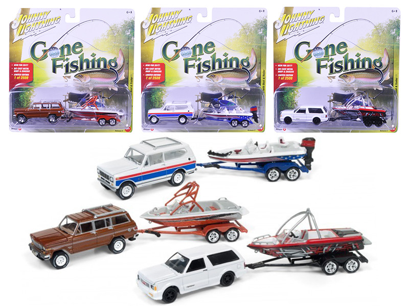 Gone Fishing 2017 Release 3A Set of 3, Each item is Limited to 2508pc 1/64 Diecast Model Cars by Johnny Lightning