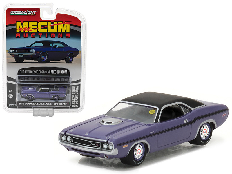 1970 Dodge Challenger R/T HEMI Plum Crazy Purple Mecum Auctions Collector Series 1 1/64 Diecast Model Car by Greenlight