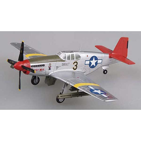 "P-51C Mustang ""Daisy Mae"" Tuskegee Airmen Red Tails (1:72), EasyModel Aircraft Models Item Number EM39202"