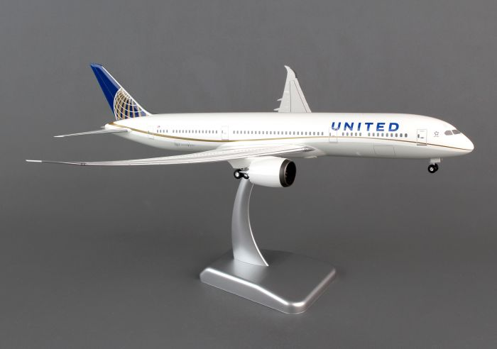 United 787-9 (1:200) With Gear by Hogan Wings Collectible Airliner Models item number: HG0069G