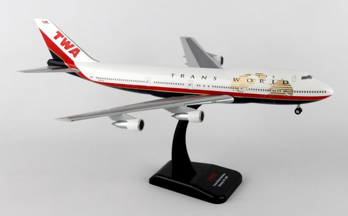 TWA 747-100 N93108 (1:200) by Hogan Wings Collectible Airliner Models item number: HG0229G