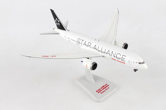 "Air India 787-8 ""Star Alliance"" VT-ANU with Gear, Star Alliance (1:200) by Hogan Wings Collectible Airliner Models item number: HG10284G"