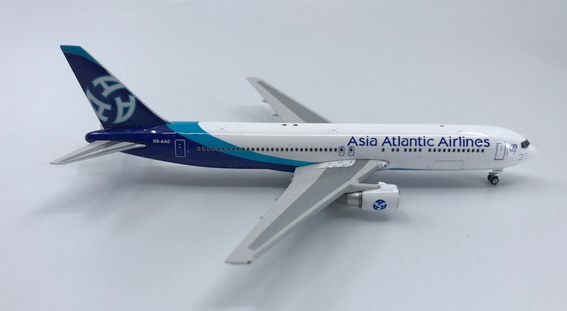 Asia Atlantic Airlines 767-300ER HS-AAC ((1:400)), Phoenix (1:400) Scale Diecast Aircraft, Item Number PH4AAQ1170