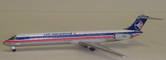 Jet America MD-82 N778JA (1:400) by Jet X 1:400 Diecast Airliners
