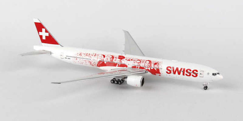 "Swiss B777-300ER ""Heads of Swiss"" HB-JNA (1:200) by Phoenix 1:200 Scale Diecast Aircraft"