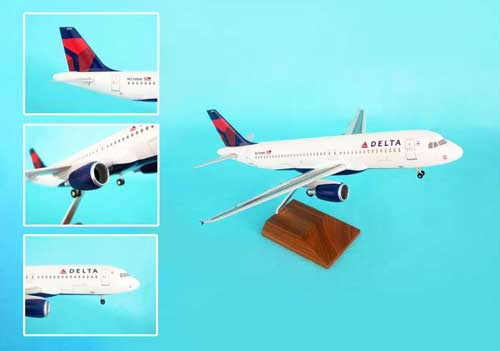 "Delta A320 ""New Livery"" (1:100), Skymarks Supreme Desktop Aircraft Models Item Number SKR8304"
