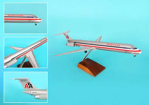 American MD-80 W/Wood Stand & Gear (1:100), SkyMarks Airliners Models Item Number SKR8601