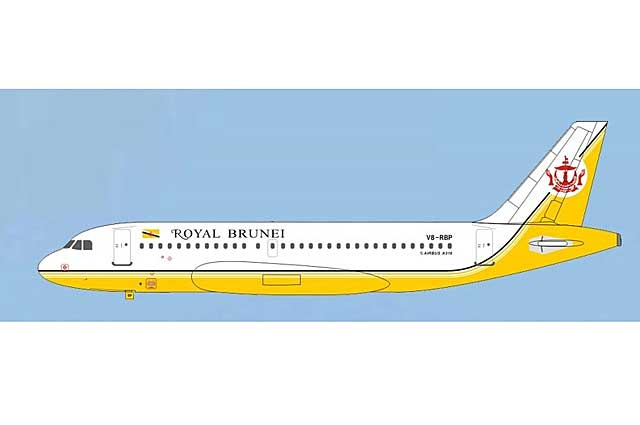 Royal Brunei Airlines A319 V8-RBP (1:400)